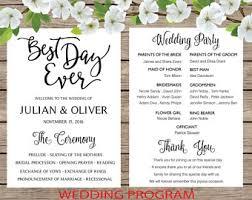 Fun Wedding Programs Boho Wedding Program Etsy