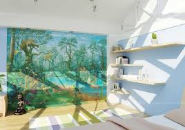 kids room wallpaper 3d rendering in dublin ireland