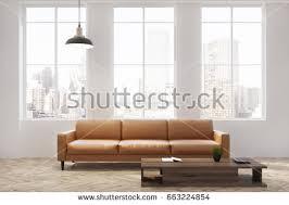 Biege Sofa Sofa Classic White Interior 3d Render Stock Illustration 599554937