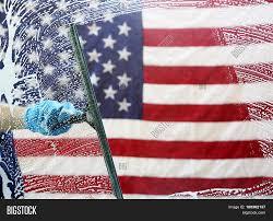 Big American Flags Window Cleaning Window Washing Image U0026 Photo Bigstock