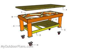 Woodworking Plans For Free Workbench by Heavy Duty Workbench Plans Myoutdoorplans Free Woodworking