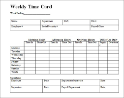 free time card template daily time card template 28 images