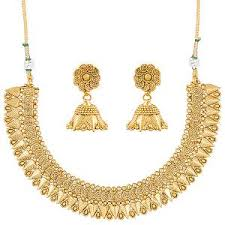 gold sets images gold finish necklace set by sia jewellery necklace sets homeshop18