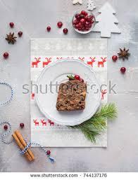 christmas fruit cake pudding on white stock photo 526427557