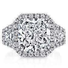 radiant cut engagement ring solomon brothers 3 halo design radiant cut engagement ring