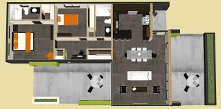 modern two house plans modern 2 bedroom house plan 61custom contemporary modern house