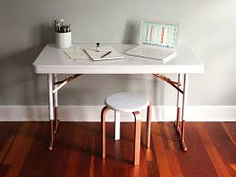 Chic Desks Upcycle A Plastic Folding Desk Into A Chic Desk How Tos Diy
