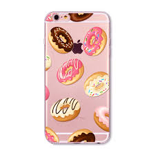 rainbow color food donuts macaron phone cases for iphone 6 6s 5 5s