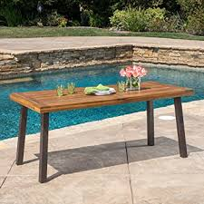 Acacia Wood Dining Table Bay Teak Finish Acacia Wood Dining Table