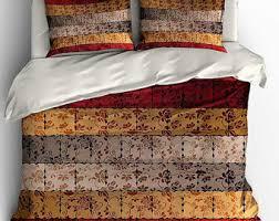 Brown Duvet Cover King Modern Duvet Cover Etsy