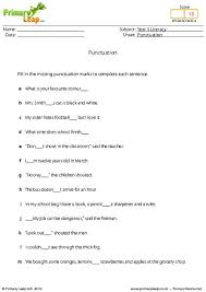 primaryleap co uk punctuation worksheet