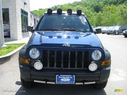 jeep renegade dark blue 2005 patriot blue pearl jeep liberty renegade 4x4 9333569 photo