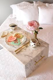 Breakfast In Bed Table by Sweetheart Pancakes U0026 Diy Faux Marble Bed Tray U2014 Vacasa