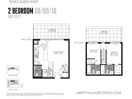 20 joe shuster way floor plans ten93 queen west pre construction condo liberty village condo