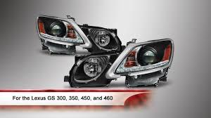 youtube lexus gs 350 lexus gs 300 350 450 460 drl led projector headlights youtube