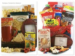 football gift baskets football party food and drinks sports themed party