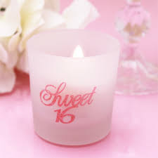 candle favors sweet sixteen candle favors pink sweet sixteen favors other