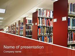 library powerpoint template free download powerpoint book template