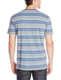 amazon com quiksilver men u0027s stripey stripe knit t shirt clothing