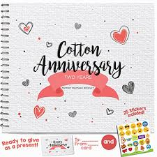 second wedding anniversary gift best cotton anniversary gifts ideas for him and 45 unique