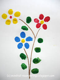 finger print greeting card artsy craftsy