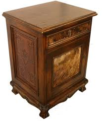 Leather And Cowhide Nightstand Western Bedroom Furniture Free - Cowhide bedroom furniture