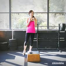 Leg Raise On Bench Lateral Step Ups With Right Leg Raise Exercise How To Workout