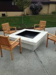 fire pits design wonderful htl concrete stamped colored firepit