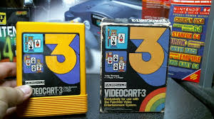Fairchild Fairchild Channel F Visual Review Videocart 3 Video Blackjack