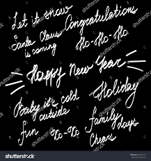 handwriting lettering happy new year merry stock vector 346916117