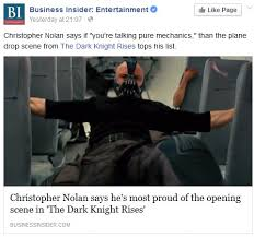 The Dark Knight Rises Meme - christopher nolan says he s most proud of plane scene in the dark