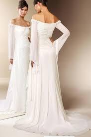 turmec off the shoulder chiffon beach wedding dress