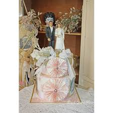 vintage cake topper cake topper wedding keepsake memory cake box