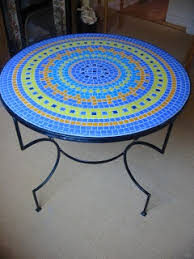 Mosaic Patio Furniture Best 25 Mosaic Tables Ideas On Pinterest Mosaic Mosaics And