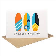 birthday card male happy birthday surfboards hbm076 mum