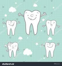 halloween background dental happy teeth sad teeth cartoon vector stock vector 30763492