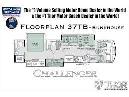 Class A Rv Floor Plans by 2018 Thor Motor Coach Challenger 37tb Bath U0026 1 2 Bunk Model Rv For