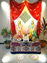 pooja decorations at home mangala gauri decoration at home