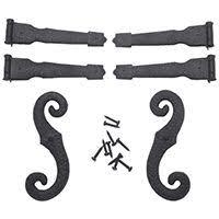 everbilt black decorative gate hinge and latch set 15472 the national hardware 2 pack steel painted gate hinge final