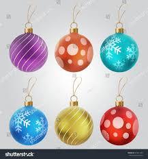 christmas ball collection tree balls vector stock vector 515811433