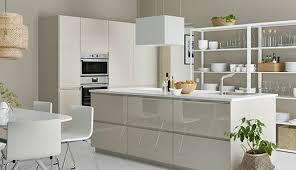 küche cremefarben mild küchen ideen beige metod küche mit voxtorp hochglanz front