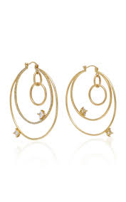 14k gold hoop earrings big orbit 14k gold hoop earrings by wasson moda operandi