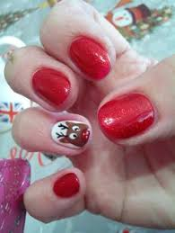 o p i gel nails christmas present design on silver my own