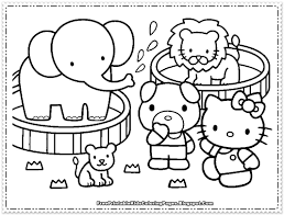 kitty coloring pages girls free printable kids