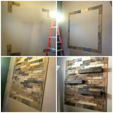 dining room remodel pallet wall floating shelves u2013 ellery designs