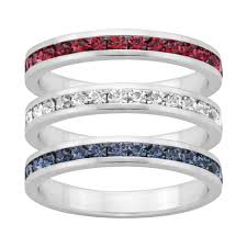 blue rings white images Traditions red white blue swarovski crystal sterling silver