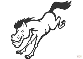 bronco horse jumping coloring page free printable coloring pages