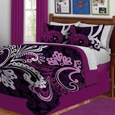 black and purple bed set black glaze teak wood canopy bed using
