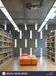 wall library inside view of concrete wall with perforated rectangular vertical