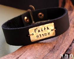 Mens Personalized Necklace Leather Bracelet For Men Personalized Name Cuff Gift For Him